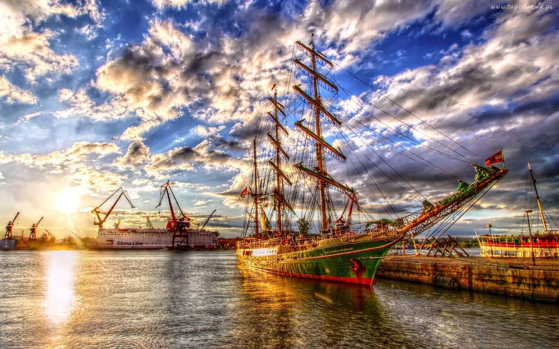186485_statki_zaglowiec_port_chmury