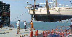 boat-craned