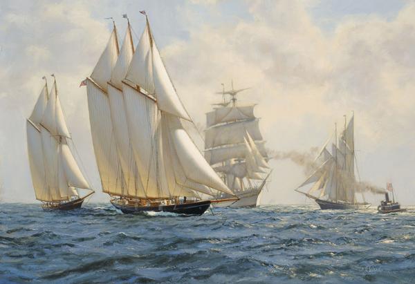 Painting-of-the-original-Schooner-Atlantic-by-A-D-Blake1