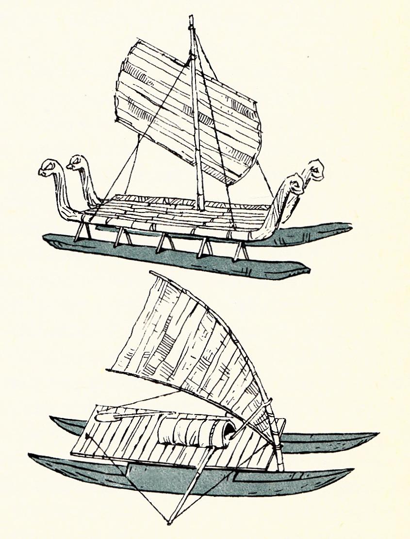 Polinezyjskie łodzie - katamarany