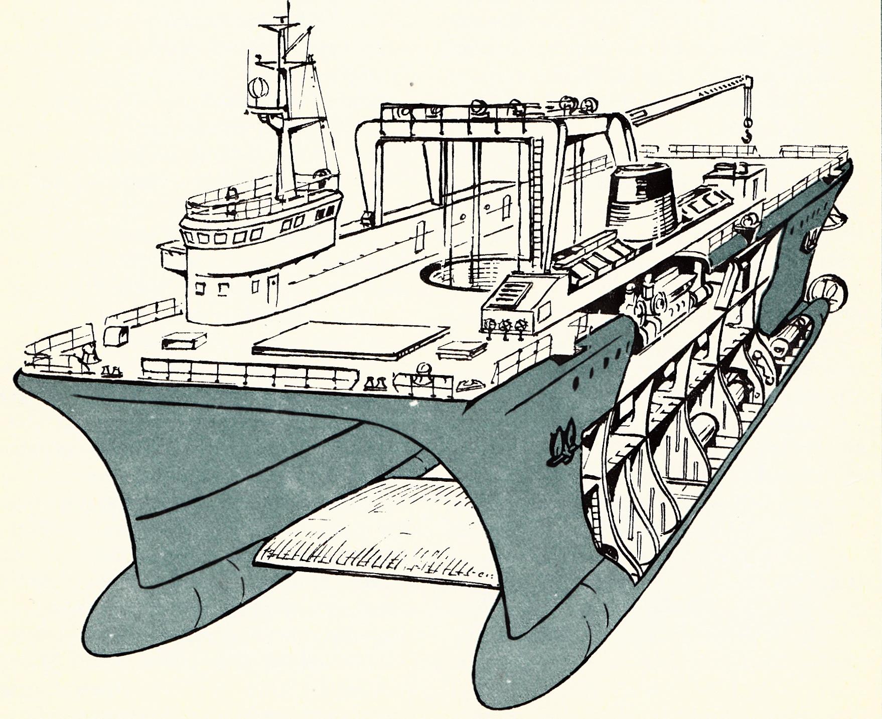 Holenderski dwukadłubowy statek badawczy Duplus
