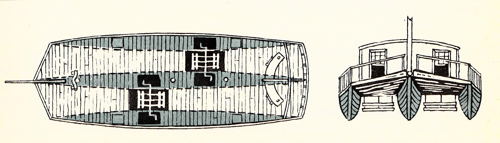 Najstarszy trójkadłubowiec zbudowany w 1786 roku