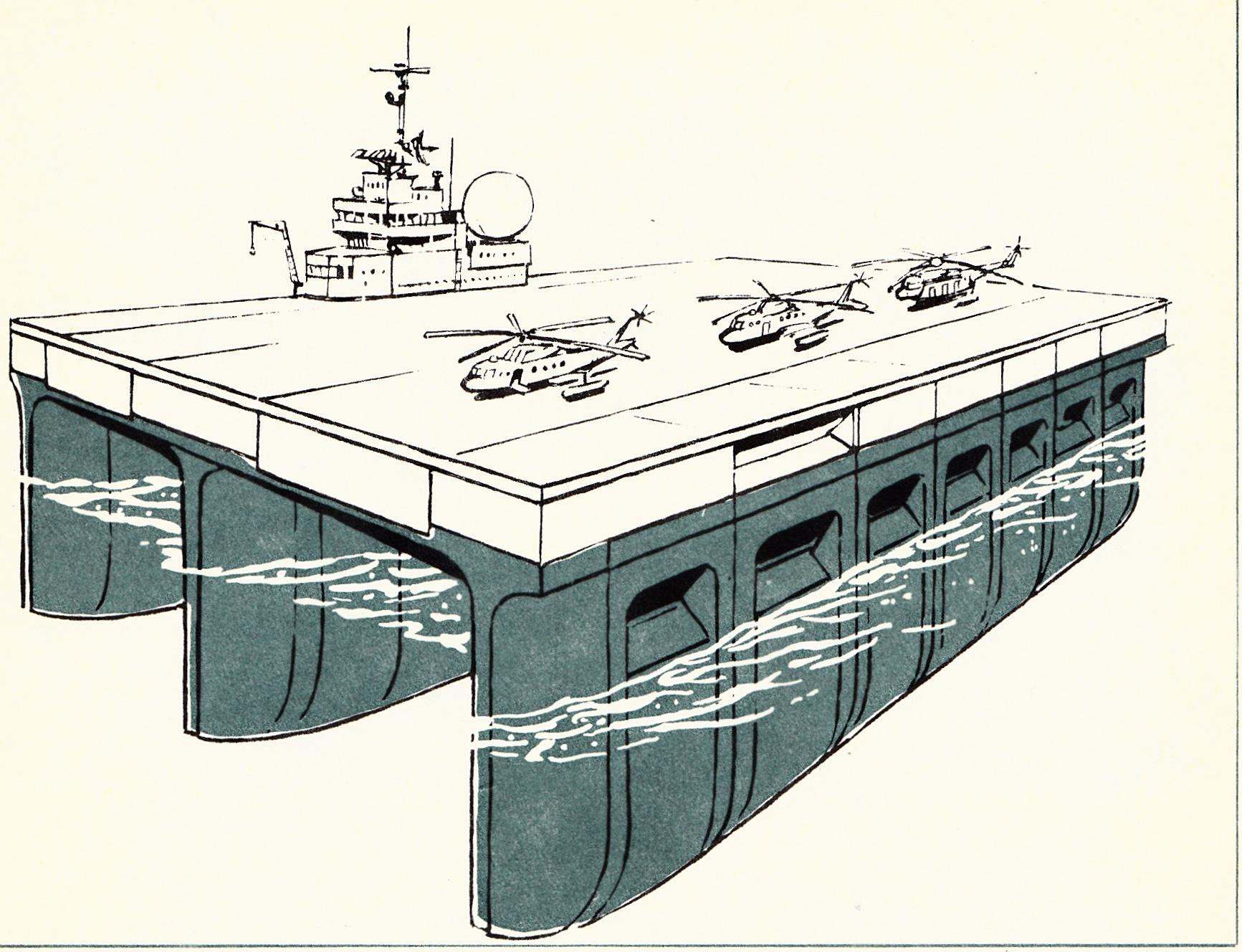Projekt trójkadłubowej bazy i lądowiska dla zespołów operacyjnych marynarki wojennej